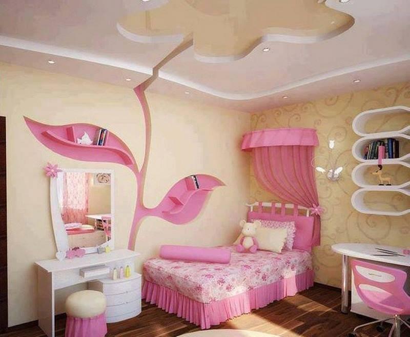 صورة ديكورات غرف نوم بنات , احدث الديكورات الخاصة بغرف نوم البنات