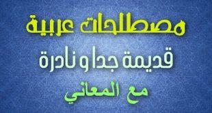معاني الكلمات العربية , معاني اغرب الكلمات