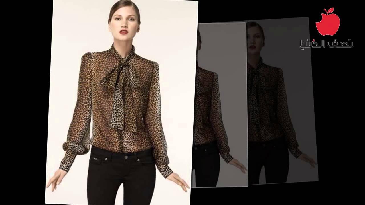 صور تفصيلات بلوزات شيفون , اجمل ملابس الشيفون