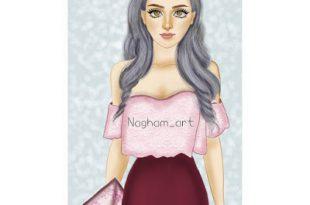 صور رسومات بنات حلوه , رسومات جميله لبنات حلوه