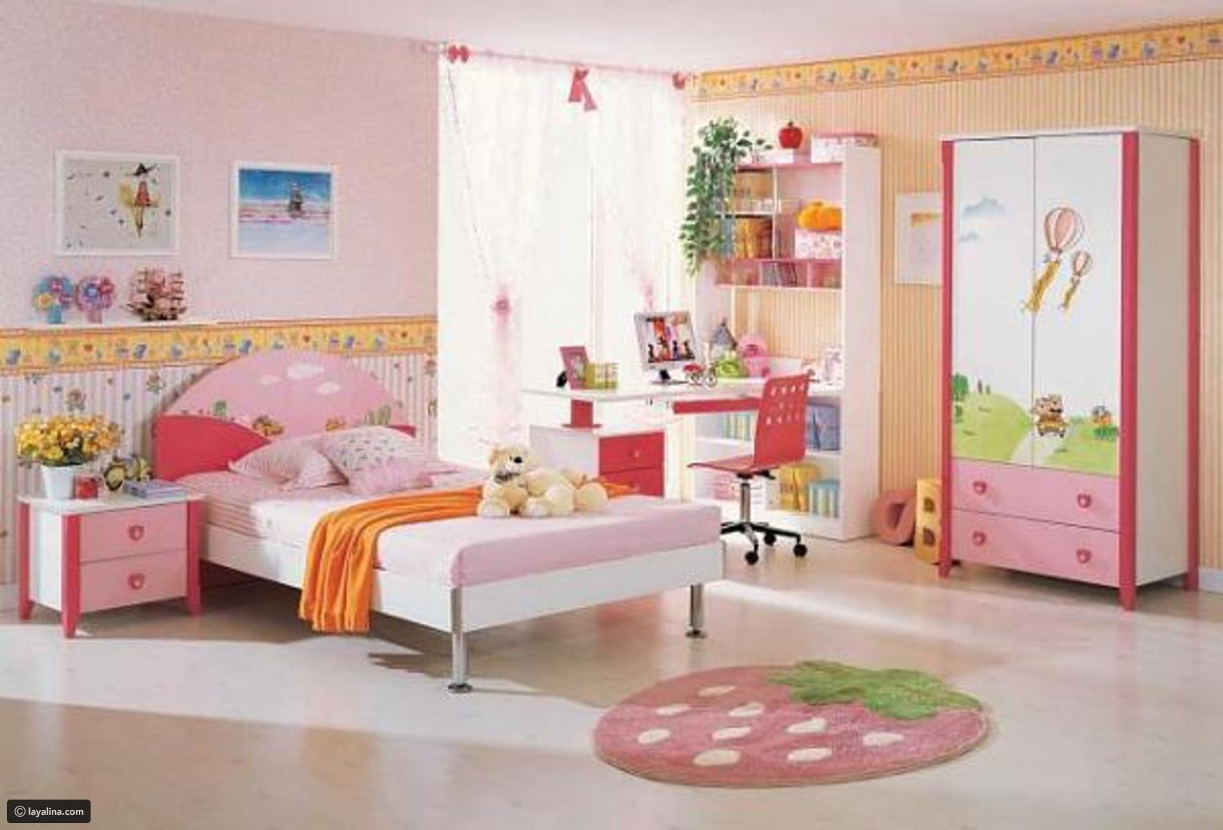صورة غرف نوم اطفال بنات , اجدد اشكال غرف نوم البنات 591 1