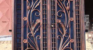 صورة صور ابواب حديد , اشكال جديدة لباب حديد لحماية بيتك