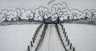 صور رسم منظر طبيعي باليد , اجمل رسومات لمناظر طبيعيه مرسومه باليد