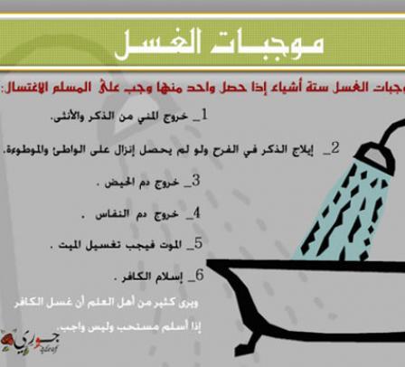صور حكم غسل الجنابة , ماهو حكم غسل الجنابه