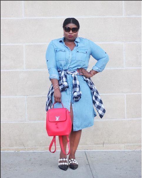 صورة فساتين للسمينات جدا , فستان مناسب للممتلئة