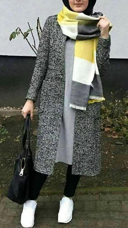 صورة ملابس محجبات شتويه , اشيك الملابس الشتوية