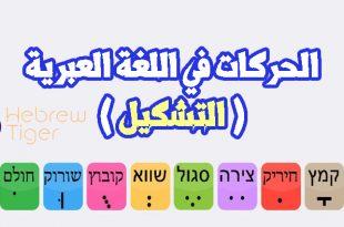 صورة تعلم الاحرف العبرية , اللغة العبرية و حروفها