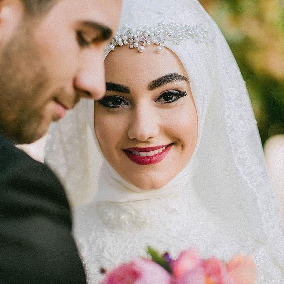 صورة صور عرايس محجبات , الحجاب يجعل العروسه مميزه