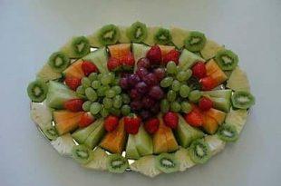 صورة طريقة تزيين الفواكه بالصور , تزين الفواكه بااشكال كثيره