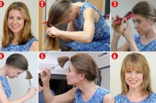 صورة كيف اقص شعري مدرج بنفسي بالصور , بالصور اسهل طريقه لقص الشعر مدرج