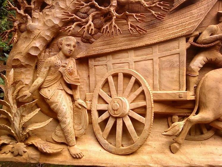 صورة النحت على الخشب , اجمل المنحوتات الخشبيه