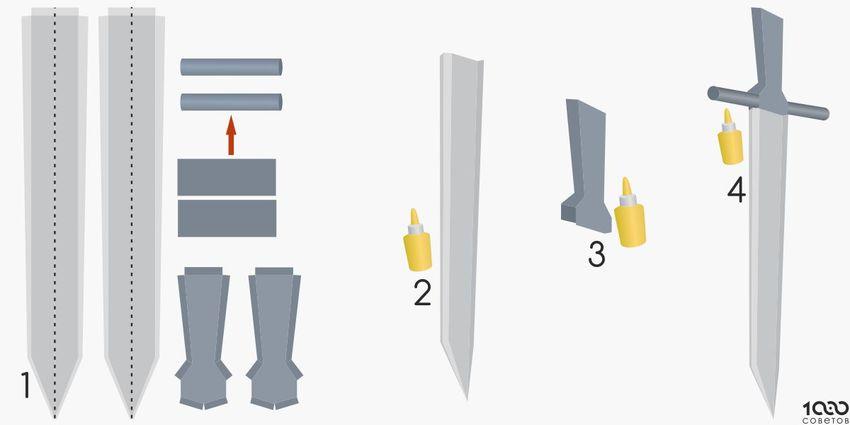 صورة كيف تصنع سيف , طريقه عمل سيف بيديك