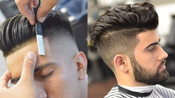 صورة تسريحات شعر للرجال وكيفية عملها , طرق تصفيف شعر الذكور