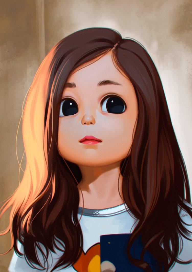 صورة بنات كيوت رسم , رسمات ارق فتيات