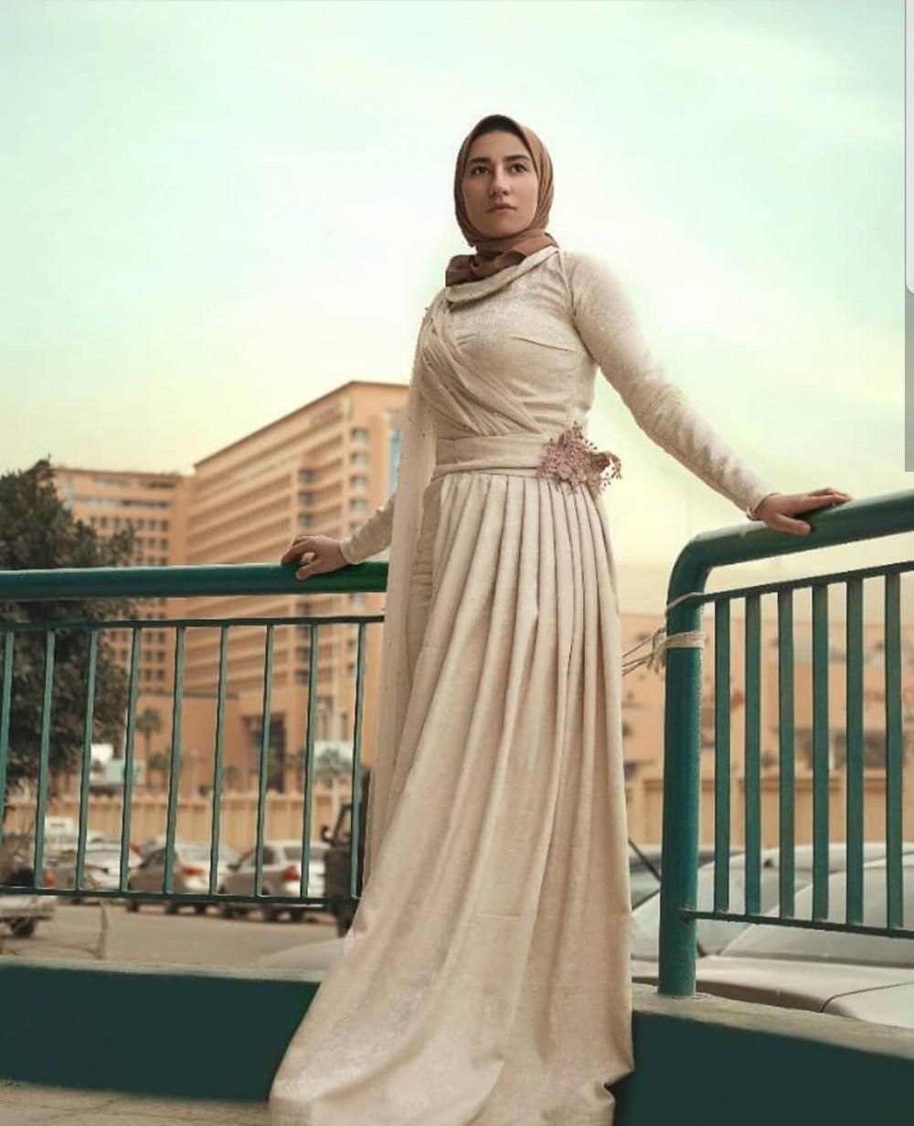 صورة موديلات فساتين للمحجبات , فاشنيستا اثواب بالحجاب