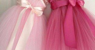 صورة فساتين اطفال تل , اجمل موديلات فساتين اطفال تل ومنفوشه 2020