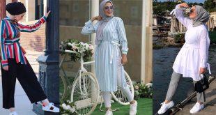 صورة موضة صيف 2019 للبنات, ملابس لبنات الجامعة استايل يجنن